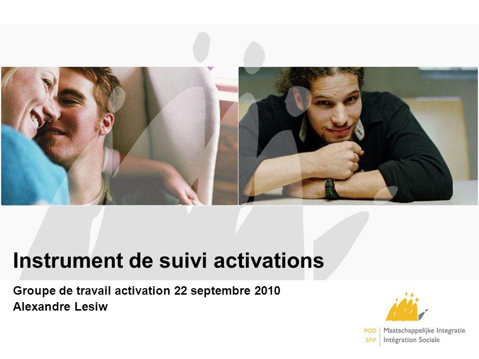 Instrument de suivi activations Groupe de travail activation 22 septembre 2010 Alexandre Lesiw