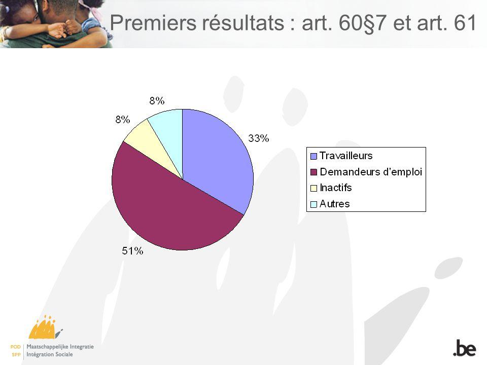 Premiers résultats : art. 60§7 et art. 61