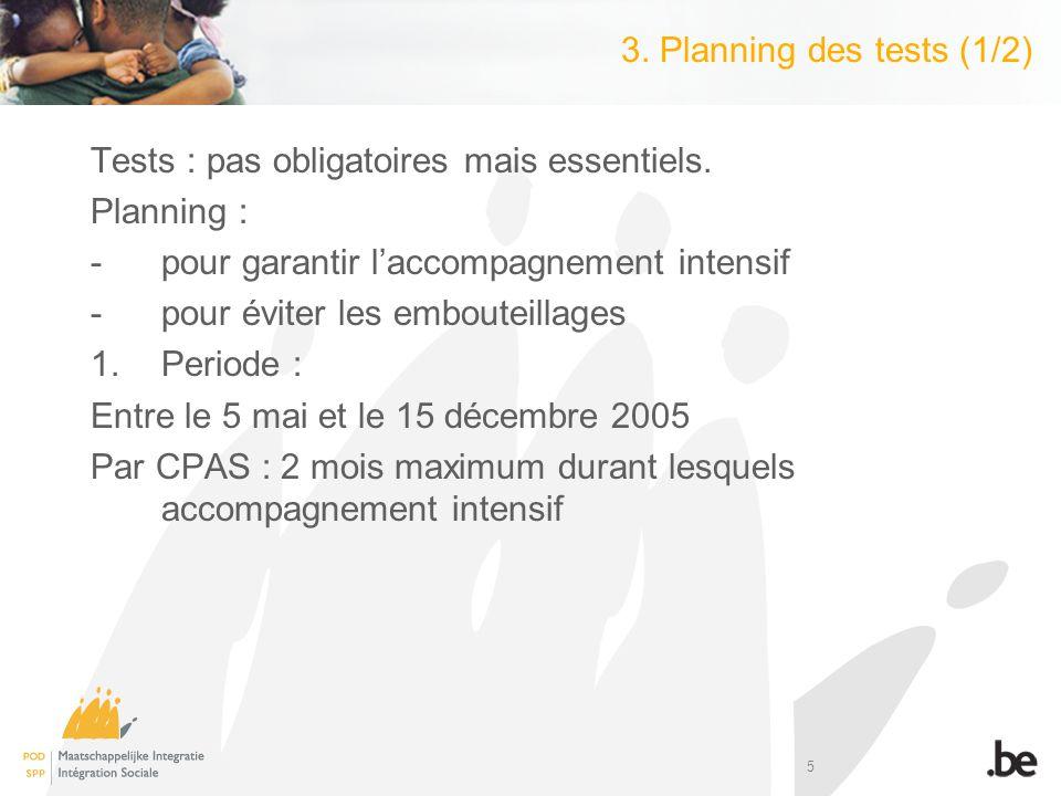 6 3.Planning des tests (2/2) 2.