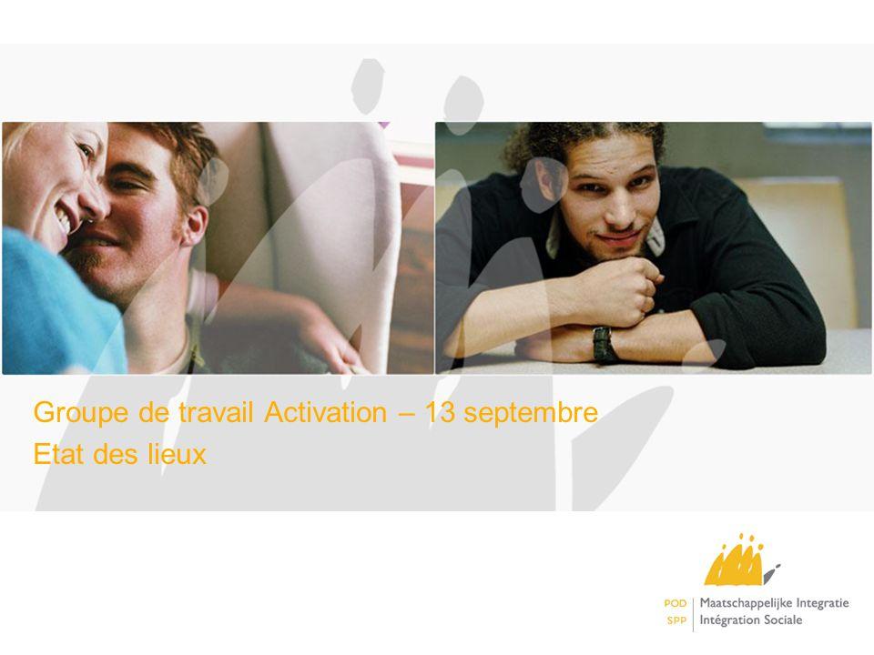 Groupe de travail Activation – 13 septembre Etat des lieux