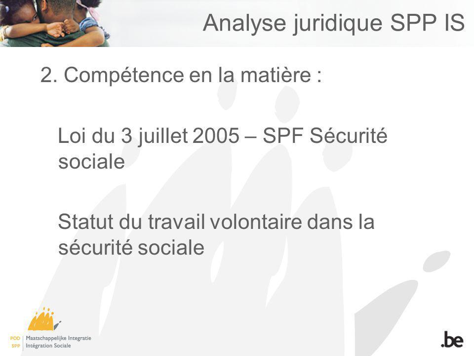 Analyse juridique SPP IS 2.