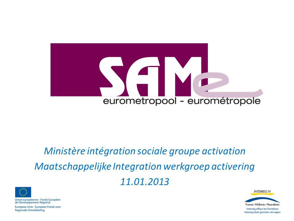 Ministère intégration sociale groupe activation Maatschappelijke Integration werkgroep activering 11.01.2013