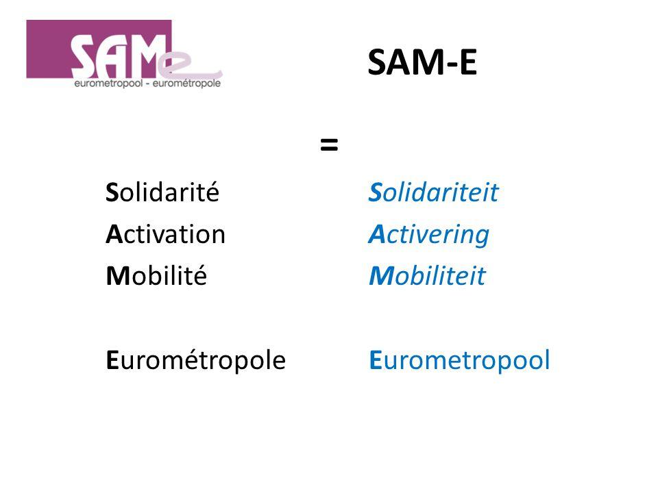 SAM-E = SolidaritéSolidariteit ActivationActivering MobilitéMobiliteit EurométropoleEurometropool