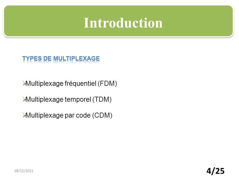 15/25 CDMTDM FDM Technique de multiplexage o Répartition de la bande dans le temps o Affecter à un utilisateur unique la totalité de la bande passante pendant un court instant o Tour de rôle pour chaque utilisateur o Regrouper plusieurs canaux de communications à bas débits sur un seul canal à débit plus élevé 08/12/2011