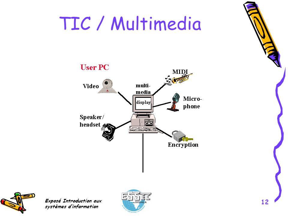 Exposé Introduction aux systèmes dinformation 12 TIC / Multimedia