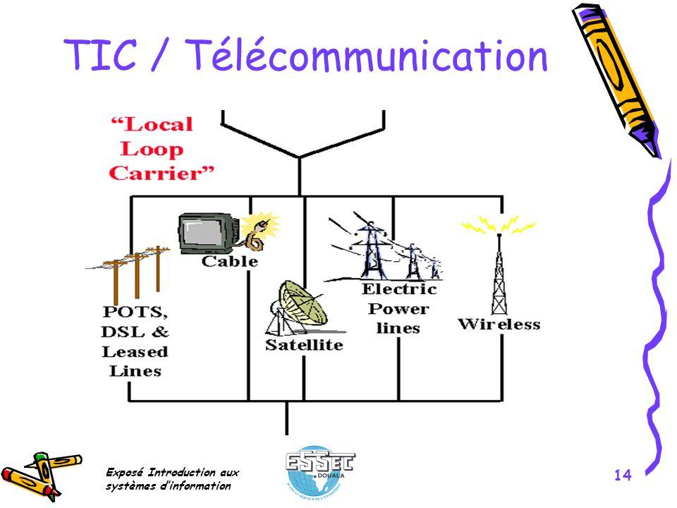 Exposé Introduction aux systèmes dinformation 14 TIC / Télécommunication