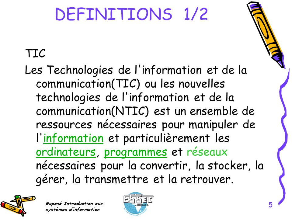 Exposé Introduction aux systèmes dinformation 6 DEFINITIONS 2/2 Internet The Internet is a global system of interconnected computer networks that use the standardInternet Protocol Suite (TCP/IP) to serve billions of users worldwide.