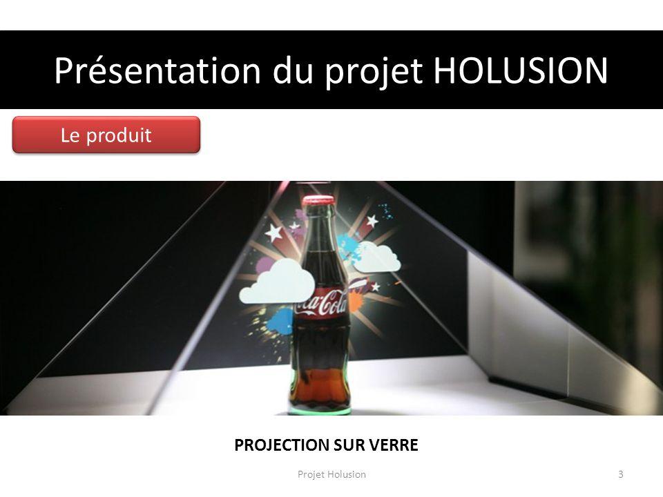 Présentation du projet HOLUSION Le produit PROJECTION SUR VERRE Projet Holusion3