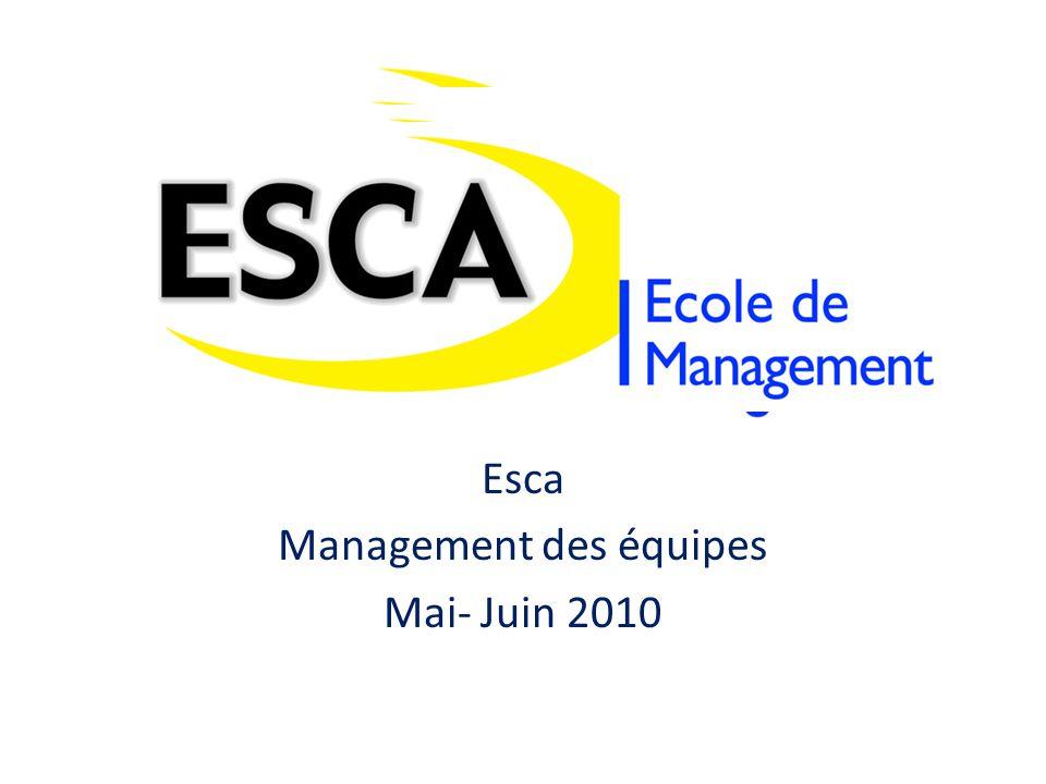 Esca Management des équipes Mai- Juin 2010