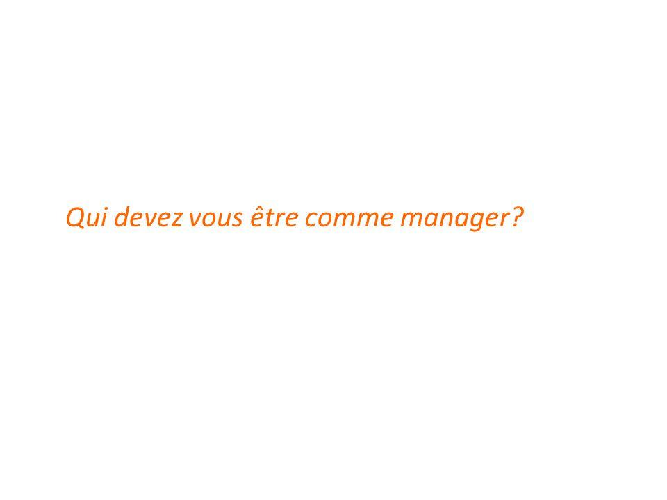 Qui devez vous être comme manager?