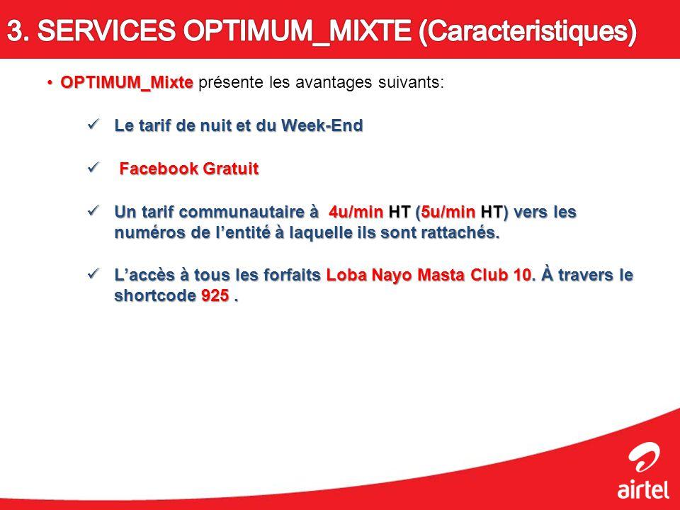 OPTIMUM_MixteOPTIMUM_Mixte présente les avantages suivants: Le tarif de nuit et du Week-End Le tarif de nuit et du Week-End Facebook Gratuit Facebook