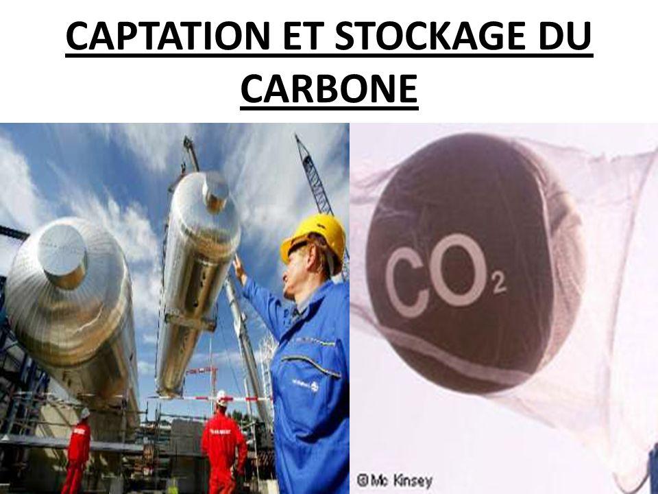 CAPTATION ET STOCKAGE DU CARBONE