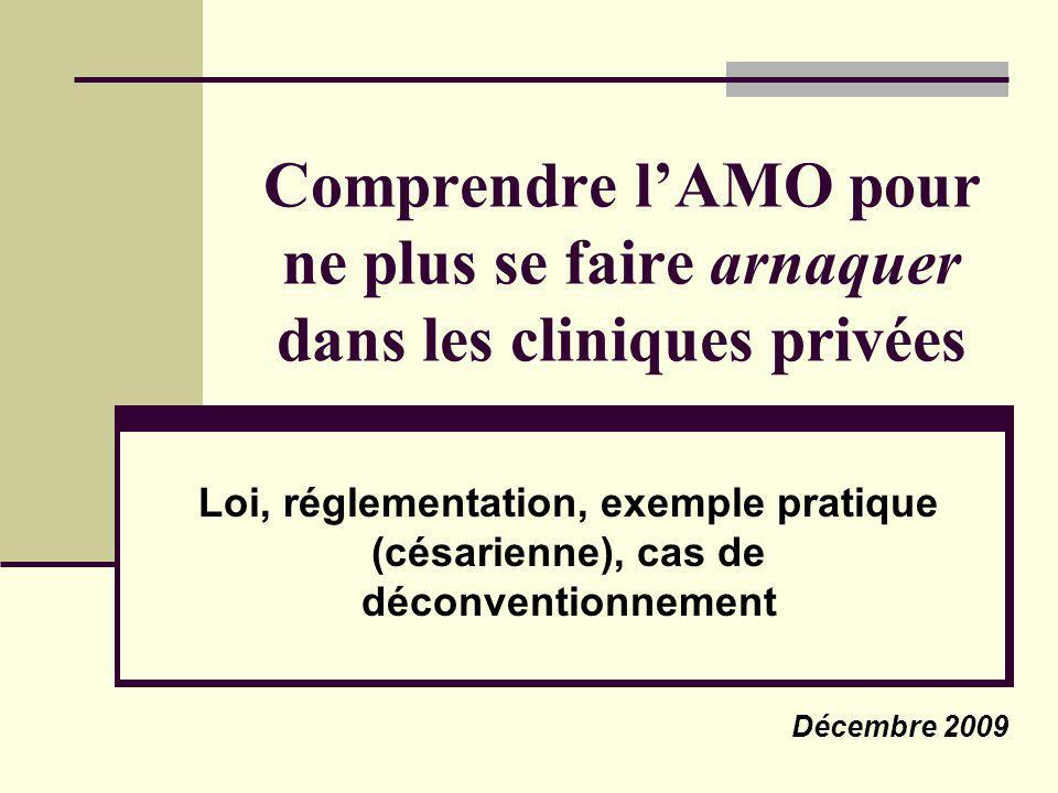 Comprendre lAMO pour ne plus se faire arnaquer dans les cliniques privées Loi, réglementation, exemple pratique (césarienne), cas de déconventionnemen