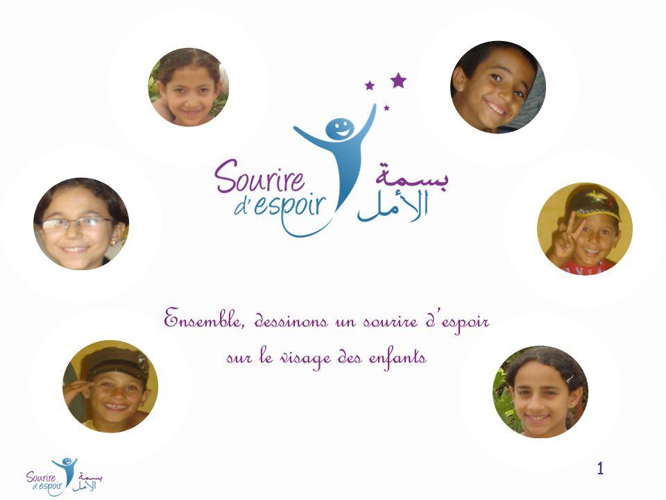 1 Ensemble, dessinons un sourire despoir sur le visage des enfants