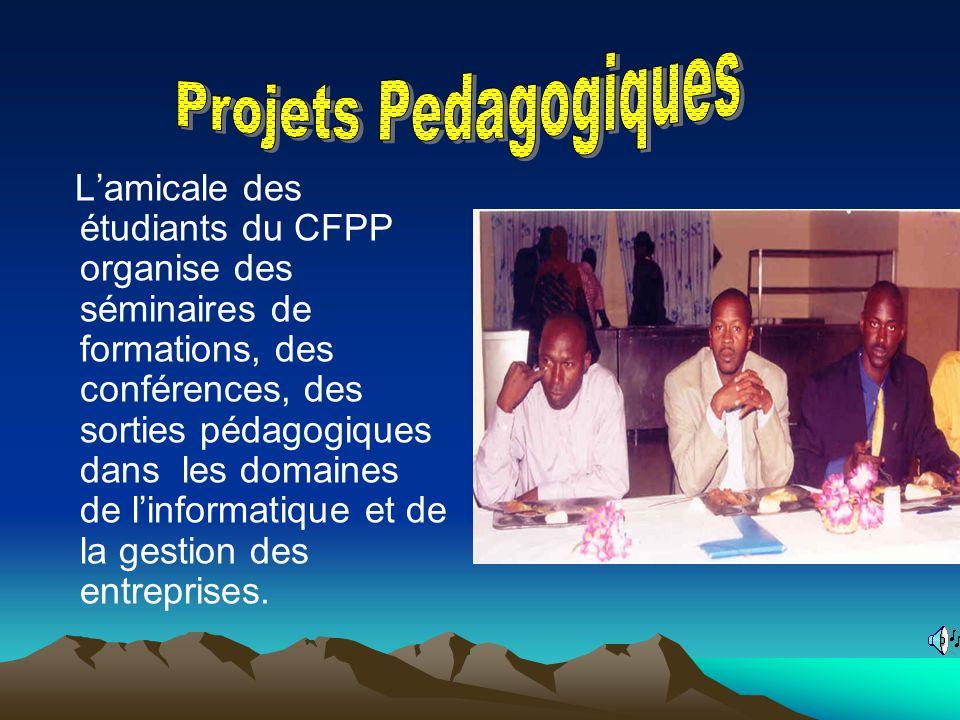 Lamicale des étudiants du CFPP organise des séminaires de formations, des conférences, des sorties pédagogiques dans les domaines de linformatique et de la gestion des entreprises.