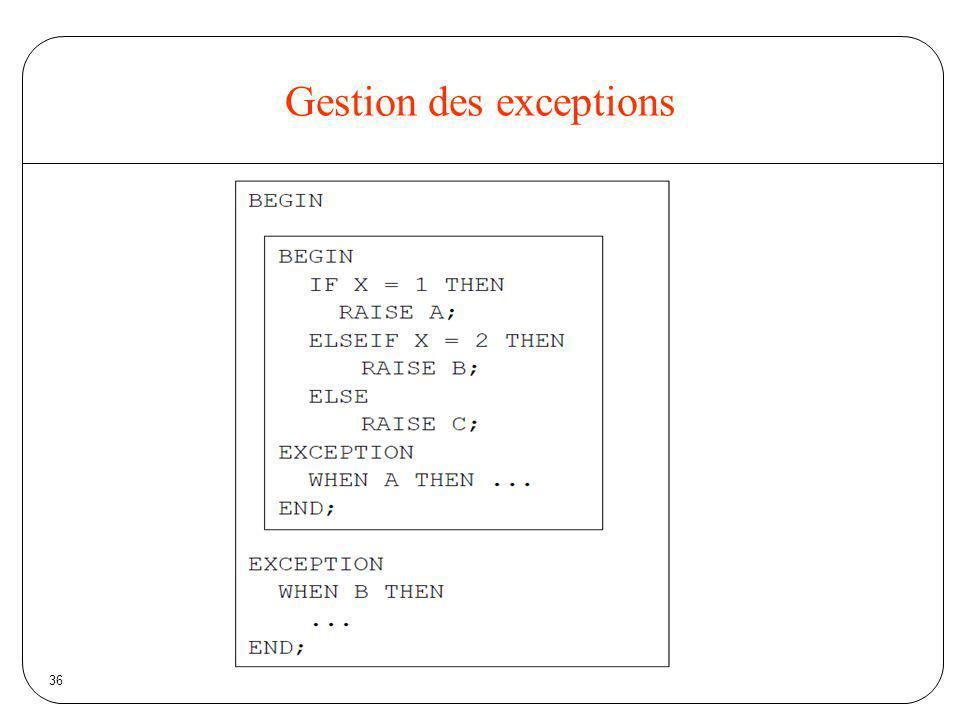 36 Gestion des exceptions