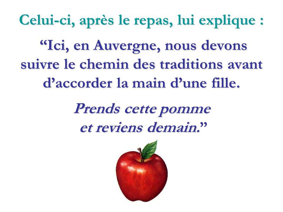 Un Parisien, voulant se marier avec la fille dun Auvergnat, va à La Bourboule pour demander sa main au père.