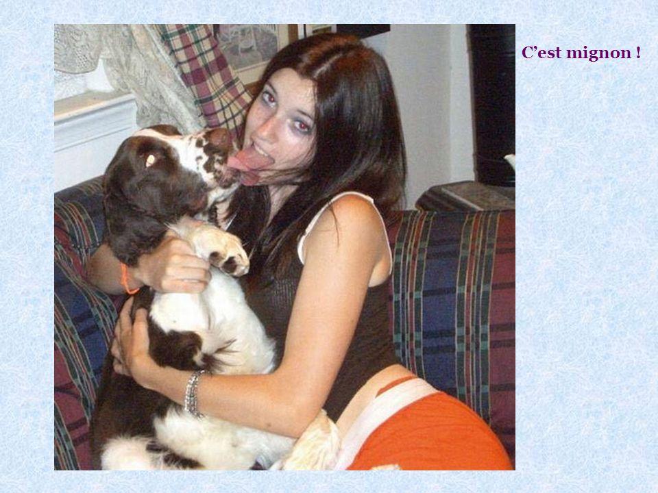 On peut embrasser son chien ? Voir photo page suivante