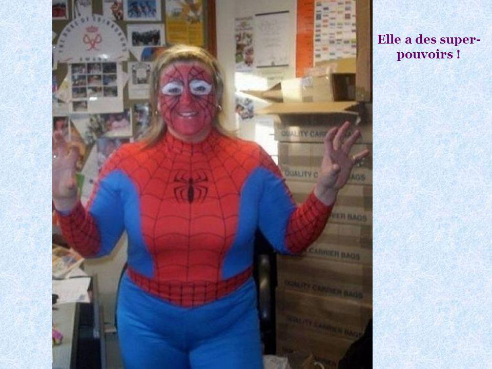 Peut-on se moquer de Spiderwoman ? Voir photo page suivante