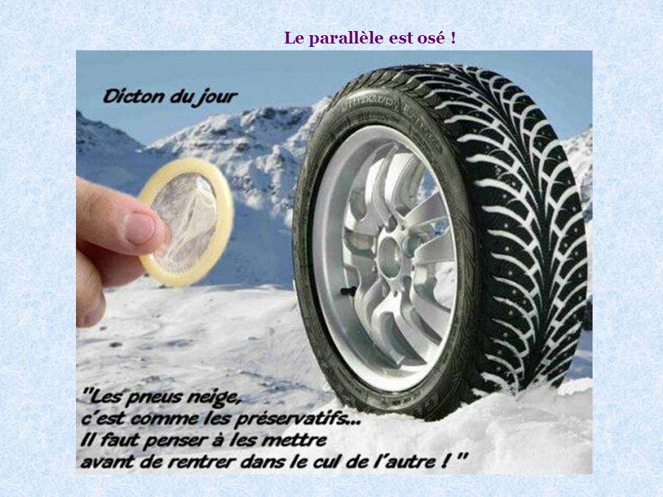 Voici une pub pour les pneus-neige : Voir photo page suivante