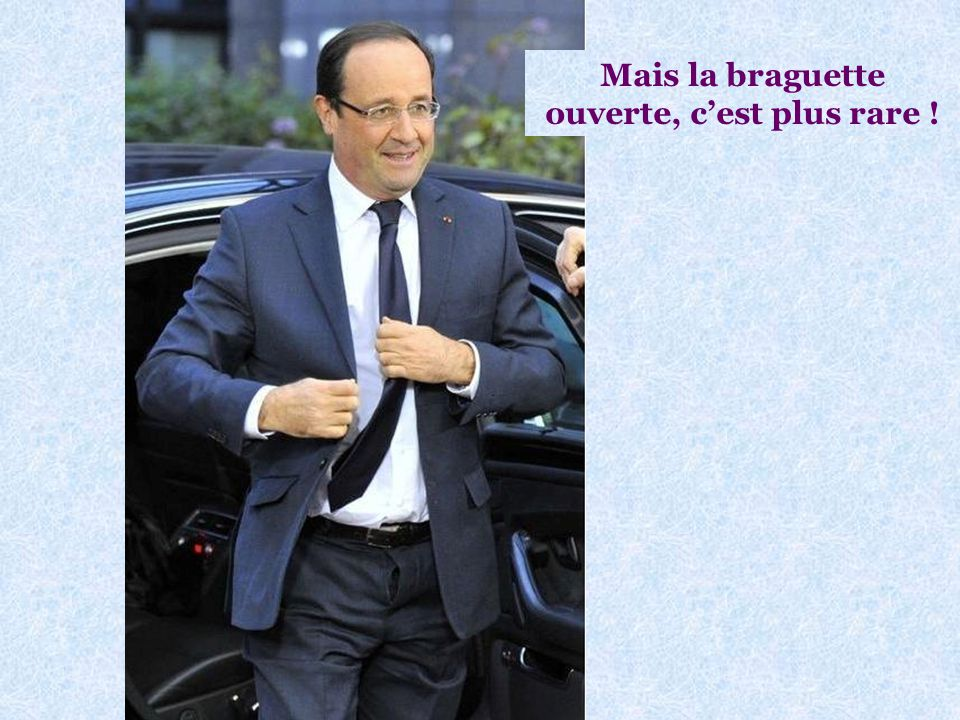 On savait que François Hollande avait toujours la cravate de travers : Voir photo page suivante
