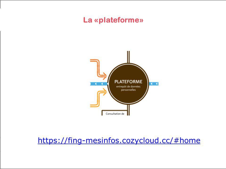 La «plateforme» https://fing-mesinfos.cozycloud.cc/#home