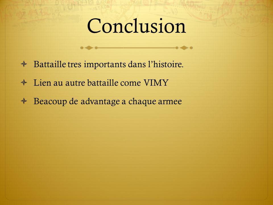 Conclusion Battaille tres importants dans lhistoire.