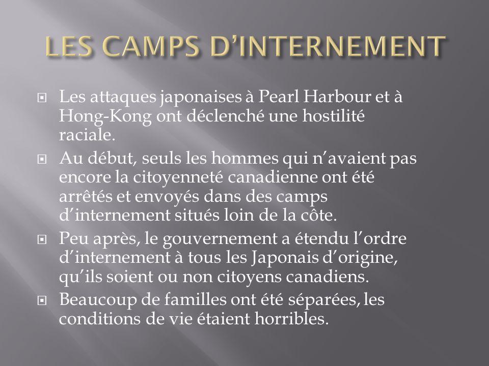 Les attaques japonaises à Pearl Harbour et à Hong-Kong ont déclenché une hostilité raciale.
