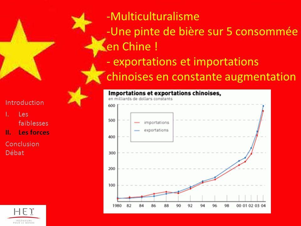 -Multiculturalisme -Une pinte de bière sur 5 consommée en Chine .
