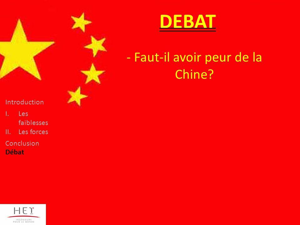 DEBAT - Faut-il avoir peur de la Chine.