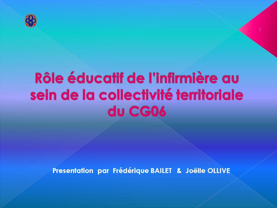 Presentation par Frédérique BAILET & Joëlle OLLIVE 1