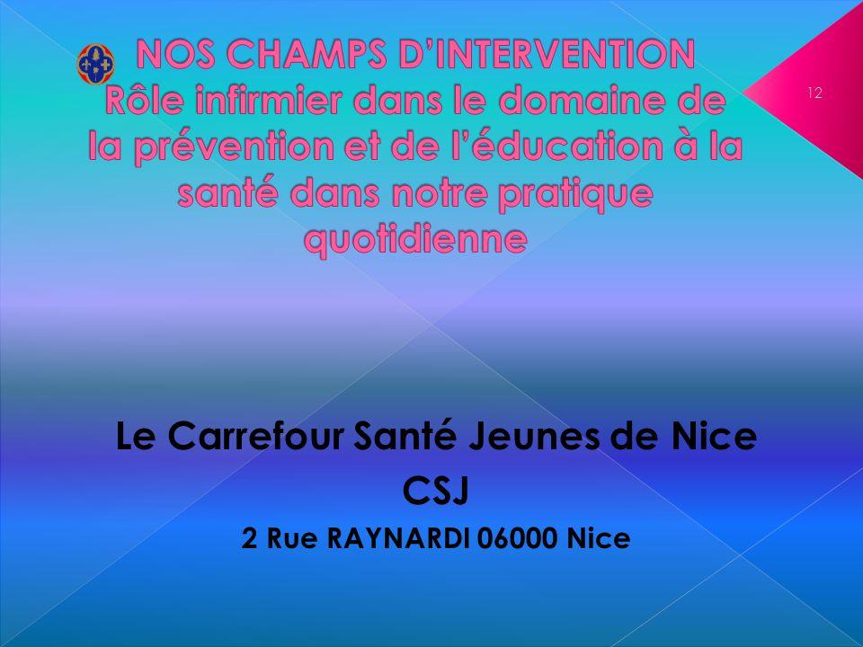 Le Carrefour Santé Jeunes de Nice CSJ 2 Rue RAYNARDI 06000 Nice 12
