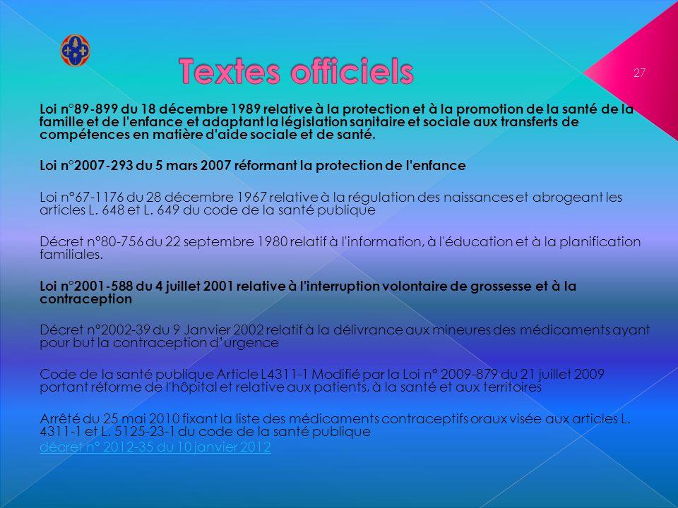 Loi n°89-899 du 18 décembre 1989 relative à la protection et à la promotion de la santé de la famille et de l'enfance et adaptant la législation sanit
