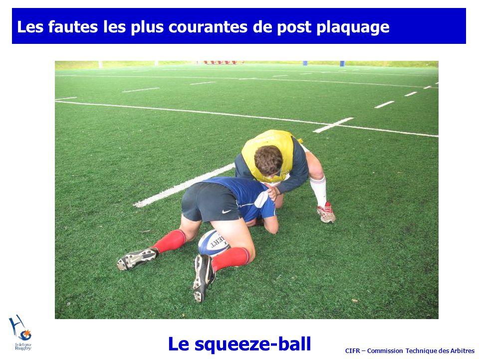 CIFR – Commission Technique des Arbitres Les fautes les plus courantes de post plaquage Le squeeze-ball