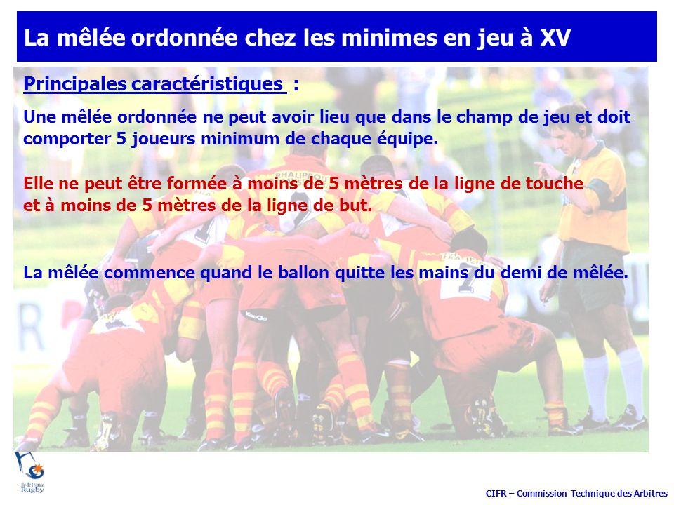 CIFR – Commission Technique des Arbitres Les commandements à annoncer Les actions des joueurs Les observations de l arbitre Flexion .