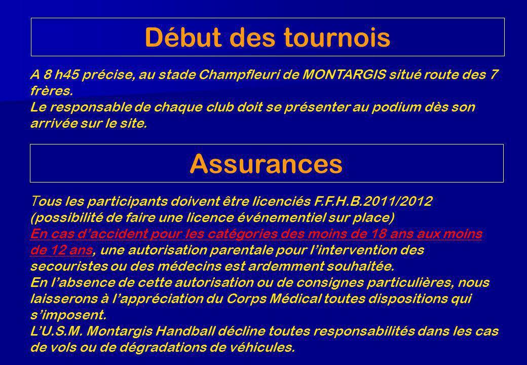 A 8 h45 précise, au stade Champfleuri de MONTARGIS situé route des 7 frères.