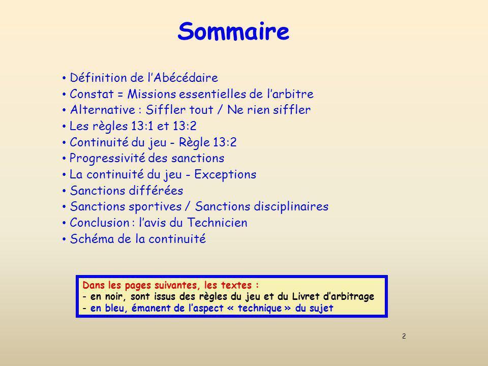 Schéma simplifié de la Continuité Ce schéma simplifié, en mode animation, est à lattention des formateurs.