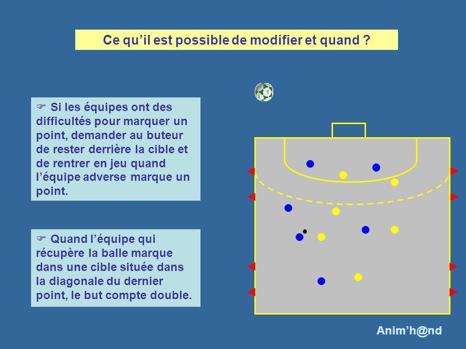 Une meilleure occupation de lespace va permettre daugmenter les possibilités dactions des attaquants car les espaces entre les attaquants sont plus importants, notamment le couloir de jeu direct du porteur de balle.