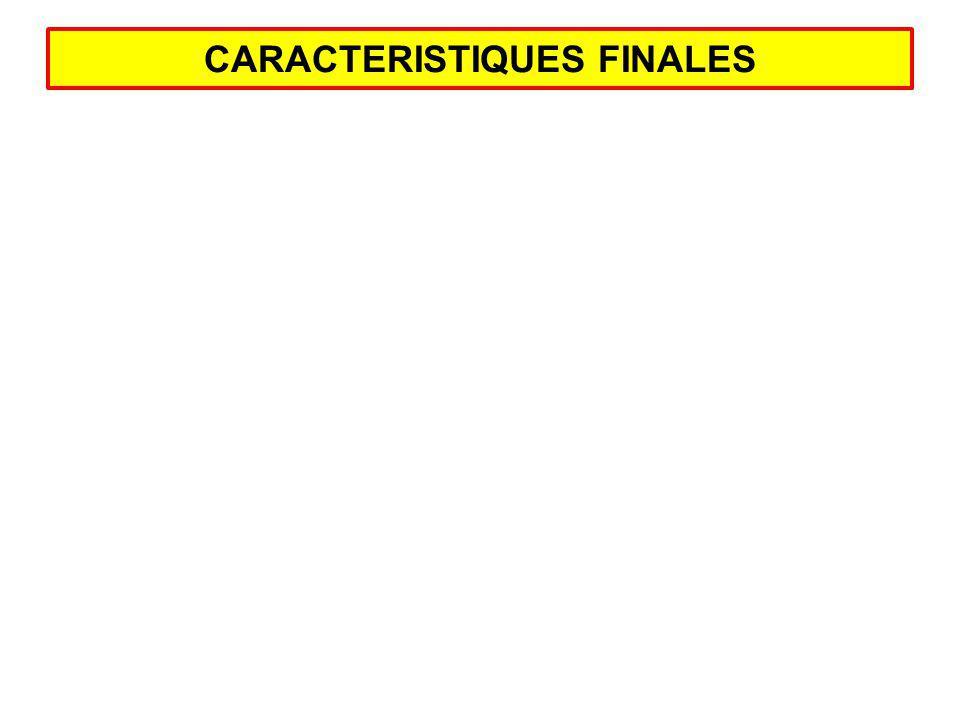 CARACTERISTIQUES FINALES