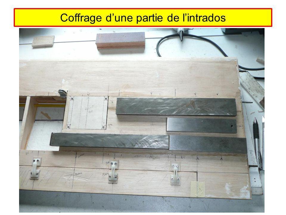 Coffrage dune partie de lintrados