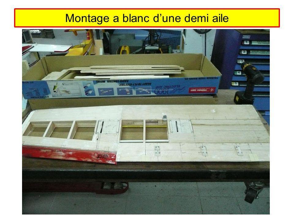 Montage a blanc dune demi aile