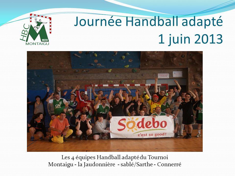 Journée Handball adapté 1 juin 2013 Remise des récompenses en fin de tournoi