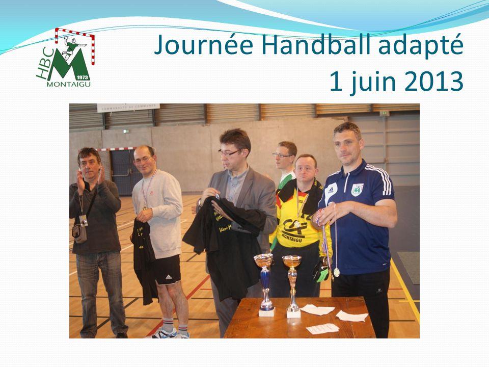 M Duchange membre du Club de la Jaudonnière (85) M Marcillat Président du Comité de Vendée de Handball