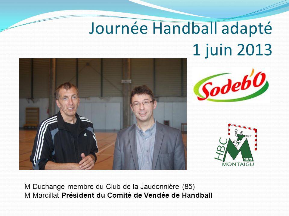 Journée Handball adapté 1 juin 2013