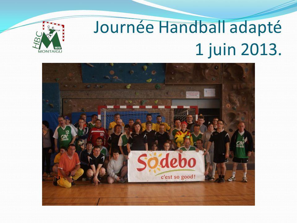Journée Handball adapté 1 juin 2013 Je tenais tout particulièrement à vous remercier Pour le soutien financier sans lequel cette 4 ème EDITION de la journée Handball adapté « Handensemble » naurait pas pu exister.