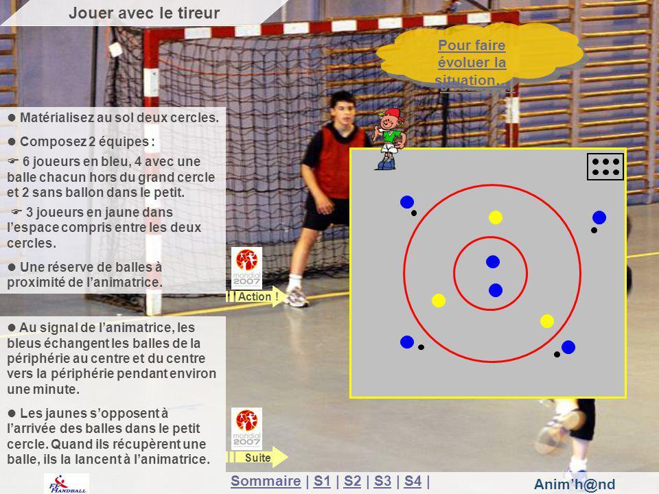 Animh@nd Au signal de lanimatrice, les bleus échangent les balles de la périphérie au centre et du centre vers la périphérie pendant environ une minut