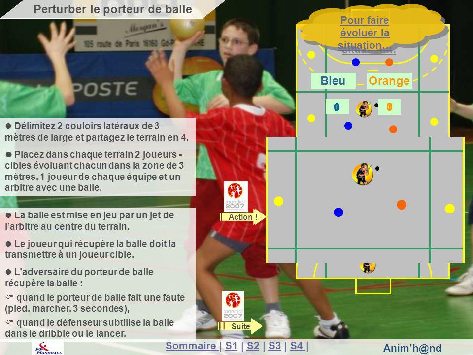 Animh@nd La balle est mise en jeu par un jet de larbitre au centre du terrain. Le joueur qui récupère la balle doit la transmettre à un joueur cible.