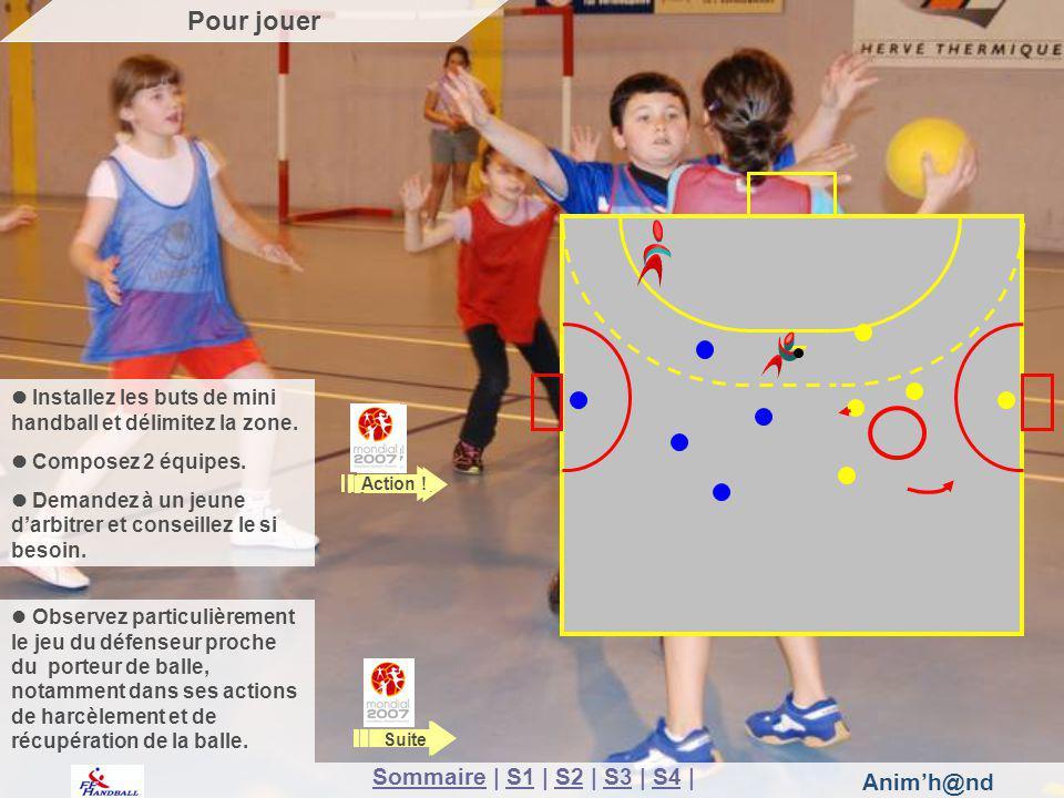 Animh@nd Installez les buts de mini handball et délimitez la zone.