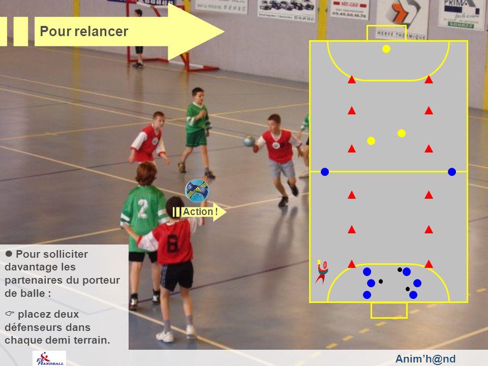 Animh@nd Pour solliciter davantage les partenaires du porteur de balle : placez deux défenseurs dans chaque demi terrain.