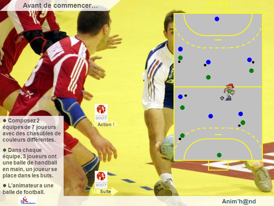 Pour marquer 1 point, il faut marquer un but avec la balle de foot, du pied ou de la tête.